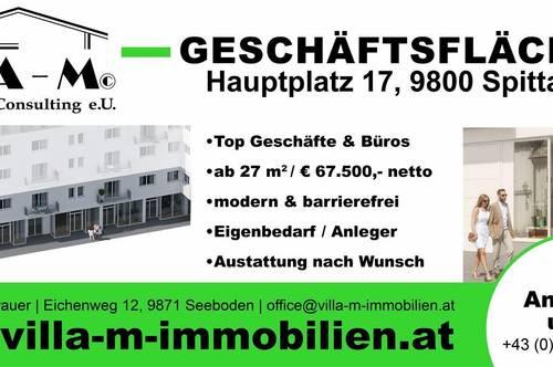 6 leistbare Geschäftsflächen ab € 67.500,- - Zentrum Spittal