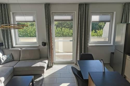 Exklusiv eingerichtete, vollmöblierte 2-Zimmer Wohnung mit Balkon zur unbefristeten Vermietung in Eggendorf!