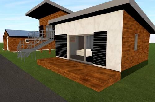 Seehaus LINUS, Holzhaus samt Grundstück, Terrasse, Eigentum