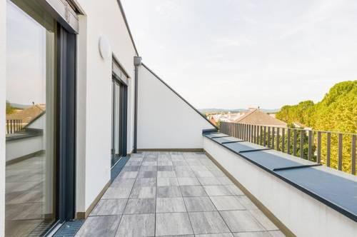Dachgeschoßwohnung 99 m², Terrasse 13 m², Erstbezug, Zentrum Mattersburg, herrlicher Ausblick