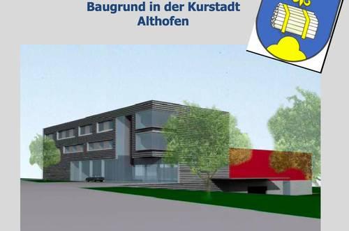 Baugrund in der Kurstadt Althofen, bewilligt als Projekt für Seminarhotel oder Wohnbau