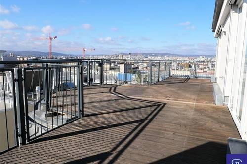 Exklusive 148m² DG-Wohnung + 61m² Terrassen mit Einbauküche und Wienblick - 1050 Wien