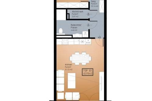 IN PLANUNG - NEUES BAUVORHABEN IM ZENTRUM VON RANSHOFEN (OÖ) 2-Zimmer-Garten-Wohnung mit Terrasse!