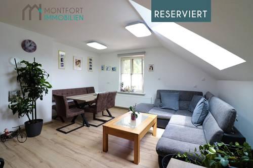 Kennelbach: gemütliche Dachgeschoßwohnung mit tollem Garten