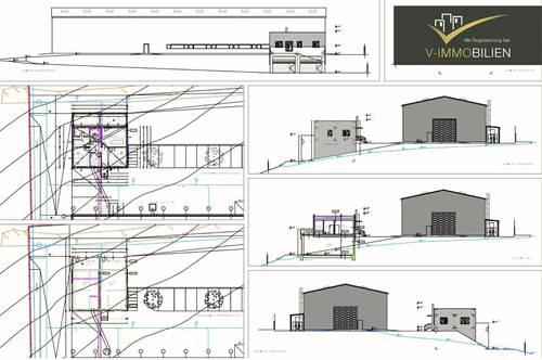 Projekt - Produktionshalle mit 3 Optionen