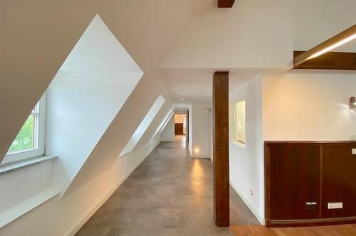 Dachgeschosswohnung mit Blick auf die Salzach