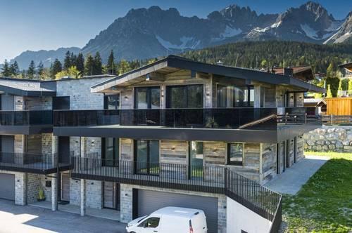 Eingerichtetes Luxus-Chalet in Going bei Kitzbühel, am Bergmassiv des Wilden Kaiser