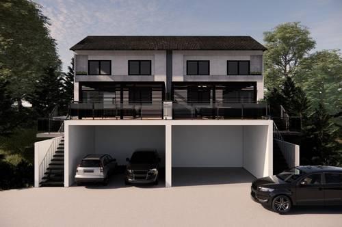 Exklusive Doppelhaushälfte in grüner Ruhelage in Wagersbach   105,5 m²   4 Zimmer   Terrasse