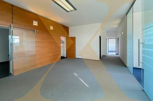 Perfekt gelegene Bürofläche direkt an der Donau mit Dachterrasse (Am Winterhafen) in Linz zu vermieten! Erweiterbar auf ca. 540m²