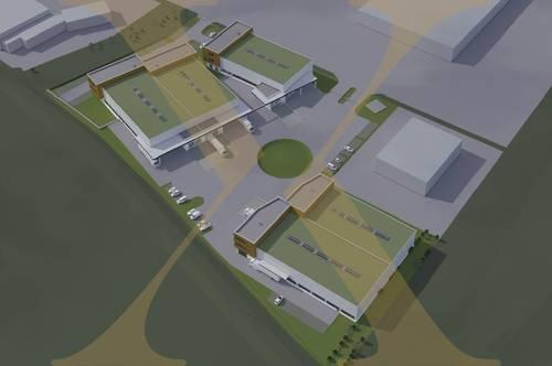 NEUBAUPROJEKT - Gewerbeflächen Widmung: Betriebsbaugebiet in Linz-Süd zu vermieten (Objekte: 18 + 19) - TEILBAR