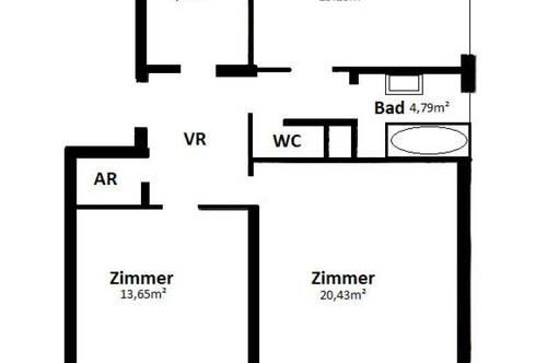 Perfekt aufgeteilte WG oder Familienwohnung - 3 Zimmer - U3 Nähe - 11m² Loggia
