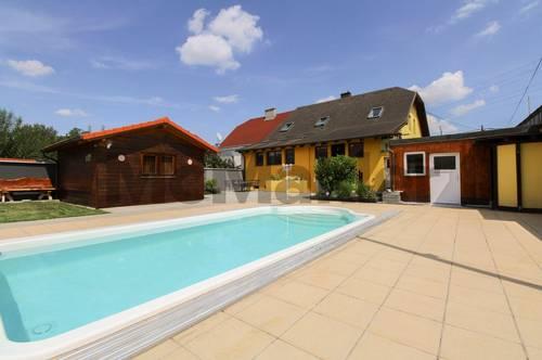 Ruhepol im Wiener Südosten: Familientraum mit viel Platz und eigenem Pool in Donaunähe
