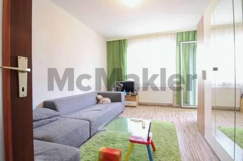 Im Grünen nahe Wien: Renovierungsbedürftige 2-Zimmer-Wohnung mit Loggia und schöner Aussicht
