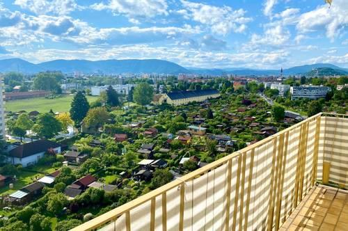 Lichtdurchflutete 4-Zimmer Wohnung mit zwei Balkonen in Liebenau!