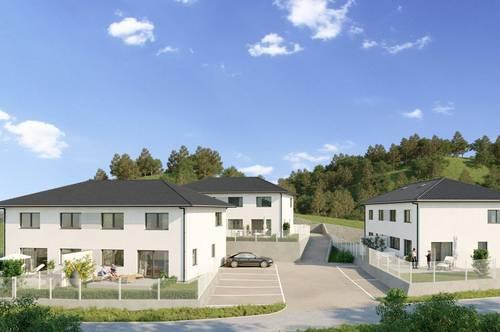Wohnen in Oberrohrbach bei Korneuburg - Doppelhaus TOP 1 zum Kauf - belagsfertig de luxe