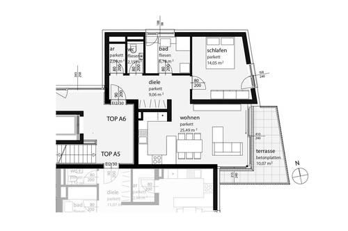 GRÜN GRÜN GRÜN - Blick zur Laudach - 2-Zimmer - Projekt VORCHDORF LIVING 4