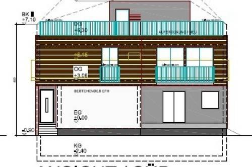 Einfamilienhaus mit südseitiger Dachterrasse zum Wohlfühlen