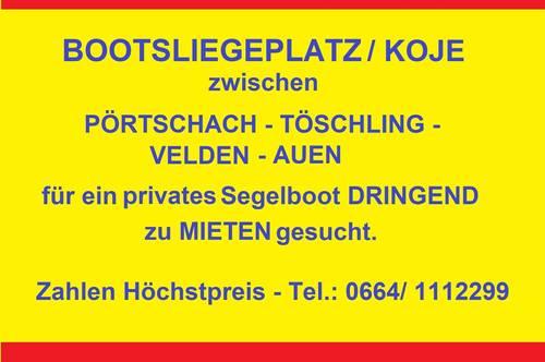 Bootsliegeplatz Wörthersee  für Segelboot DRINGEND gesucht