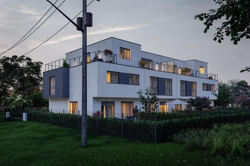 Exklusives Neubau Reihenhaus mit Garten und Terrasse in Aspern