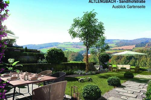 PAUL & Partner: ERSTBEZUG & UNBEFRISTET Reihenhäuser in Altlengbach mit Weitblick