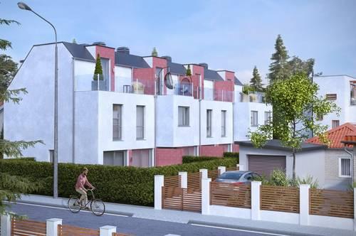 P&P: ERSTBEZUG & UNBEFRISTET:: Reihenhaus mit Dachterrasse, Keller, Fußbodenheizung, elektr. Jalousien