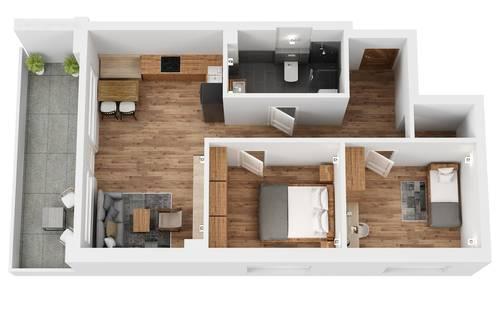 """TOP 4 Wohnprojekt """"Endach 18"""": 3 Zimmer Wohnung"""