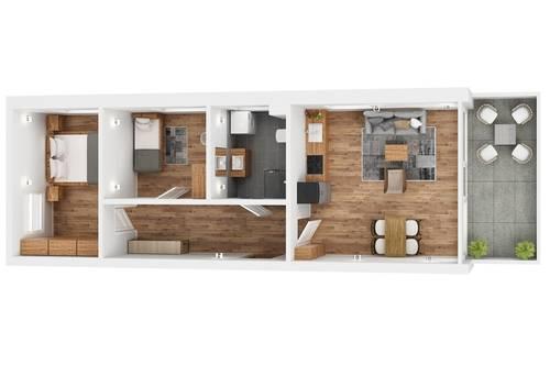 """TOP 11 Wohnprojekt """"Endach 18"""": 3 Zimmer Wohnung"""