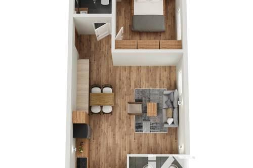 """RESERVIERT! TOP 8 Wohnprojekt """"Endach 18"""": 2 Zimmer Wohnung"""