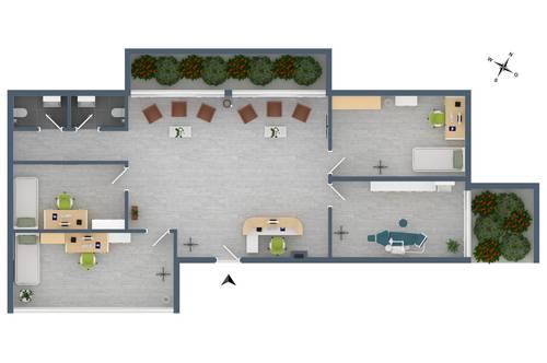 """TOP G4: Praxis in unmittelbarer Krankenhausnähe im Neubauprojekt """"Endach 18"""""""