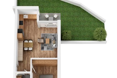 """RESERVIERT! TOP 7 Wohnprojekt """"Endach 18"""": 2 Zimmer Wohnung"""