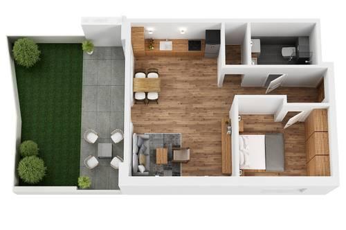 """TOP 1 Wohnprojekt """"Endach 18"""": 2-Zimmer-Garten-Wohnung"""