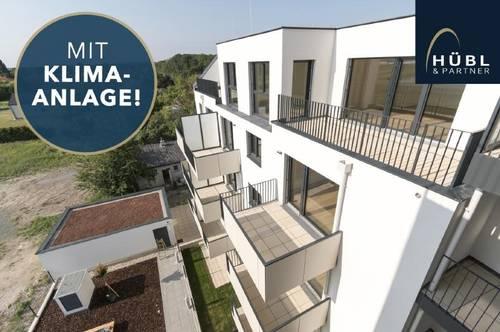 2-Zimmer mit Balkon | Erstbezug | Klimaanlage | Markenküche | Fußbodenheizung | elektr. Außenbeschattung | Erdwärme