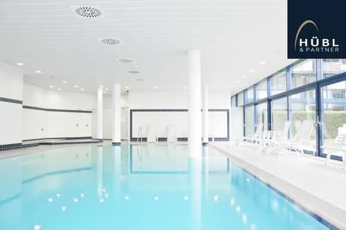 2-Zimmer Wohnung mit Küche und 2 Balkonen | Pool, Sauna, Fitnessraum, Dampfbad | U1 Kagran