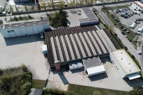 Bis zu 3.500 m² große Lager-/ Produktionshallen mit Büroflächen