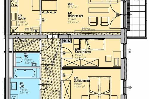 Prellenkirchen. Geförderte 3 Zimmer Wohnung | Balkon | Miete mit Kaufrecht.