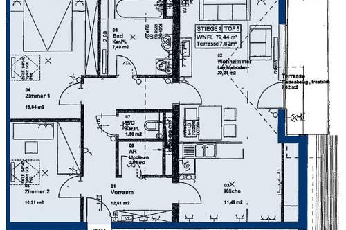 Pöchlarn. Geförderte 3 Zimmer Wohnung | Dachterrasse | Miete mit Kaufrecht.