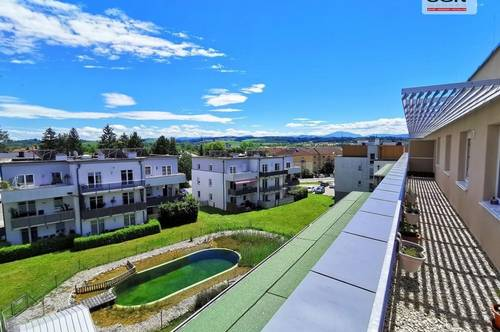 4- Zimmer Dachgeschosswohnung mit Miete-Kaufoption mit traumhafter Dachterrasse/Lift/PKW-Abstellplatz und exklusivem Schwimmbiotop
