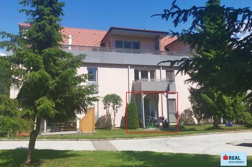 Erdgeschosswohnung mit Terrasse und kleinem Garten in Griffen