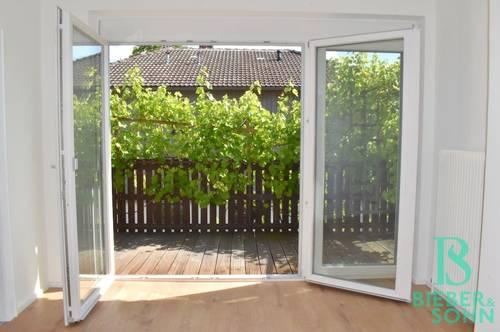 Lichtdurchflutete, großzügige Balkonwohnung mit Gartennutzung – Erstbezug nach Renovierung!