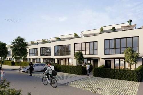 PROVISIONSFREI - REIHENHAUS-FLAIR! Moderne MAISONETTE-WOHNUNG mit Eigengarten, Dachterrasse und Keller....