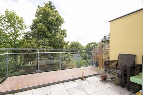 BADEN, Grünruhelage beim Strandbad: moderne Maisonetten - Wohnung mit 2 Terrassen und Top-Ausstattung