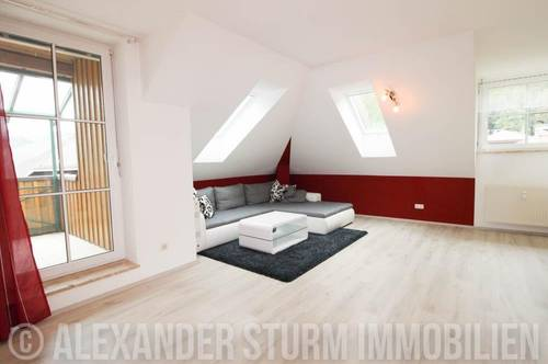 ON TOP | Helle 2 Zi.-Wohnung mit überdachter Terrasse und TG-Stellplatz