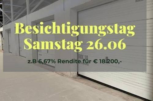 RESERVIERT - Vermietete Garage mit 6,17 % Rendite für Anleger I Box 2