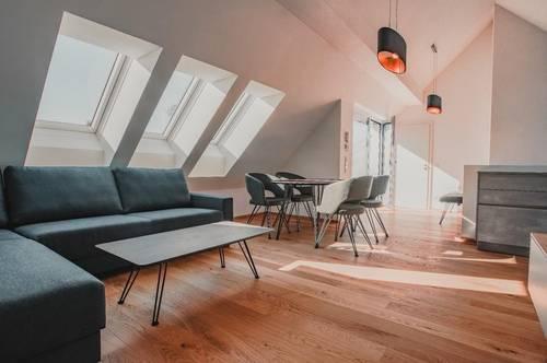 SCHALLMOOS | 3 Zimmer-Maisonettewohnung komplett möbliert I Erstbezug – modern, zentral, ruhig