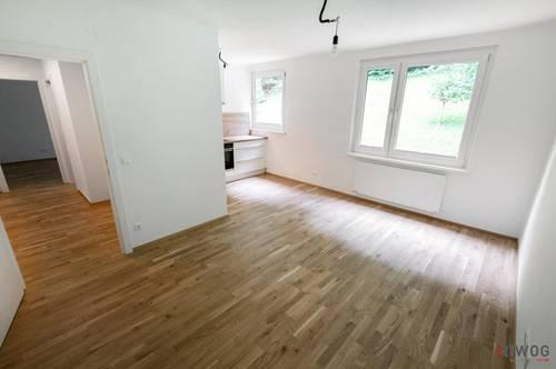 *** PROVISIONSFREI -- Erstbezug nach Sanierung -- Gemütliche 2-Zimmer Wohnung mit Blick ins Grüne -- Vollausgestattete Küche mit Siemens Geräten ***