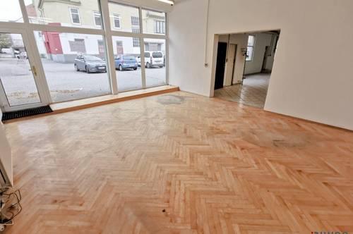 200m² Geschäftslokal/Schauraum mit Parkplätzen direkt vor der Türe
