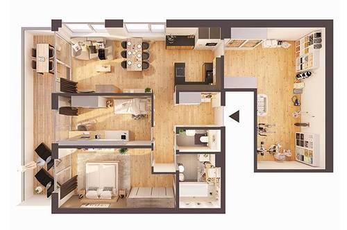 Provisionsfreie hochwertige 3-Zimmer Neubau-Wohnung mit Balkon und großem Lager (Top W10)