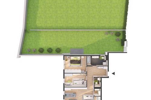 Provisionsfreie 3-Zimmer Neubau-Gartenwohnung mit Balkon (80W6)