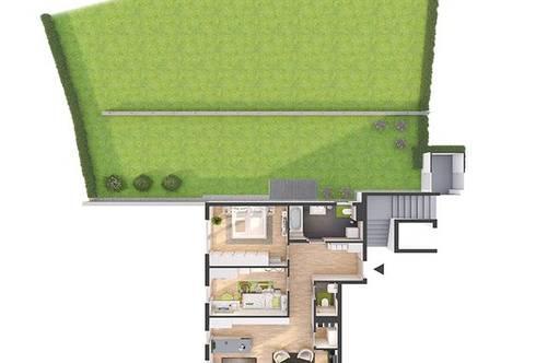 Provisionsfreie 3-Zimmer Neubau-Gartenwohnung mit Balkon (82W6)