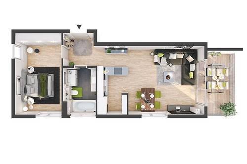 Provisionsfreie 2-Zimmer Neubau-Wohnung mit Balkon (DW06)